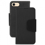 APPLE IPHONE 7 BEYOND CELL INFOLIO LEATHER CASE - BLACK/BLACK