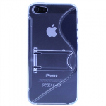 APPLE IPHONE 5/5S/SE TEKYA TPU SHIELD WITH KICKSTAND - CLEAR