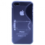 APPLE IPHONE 5/5S/SE TEKYA TPU SHIELD WITH KICKSTAND - SMOKE/CLEAR