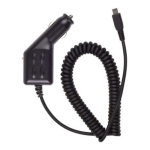 OEM BlackBerry Mini USB Car Charger for BlackBerry Bold Curve Pearl 8830, 8350i (Black) - ASY-09824-001-Z