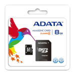 ADATA 8gb Micro SDHC Card Class 4 with SD Adapter