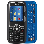 LG AX260 Cellphone, Camera, Bluetooth for nTelos (Black/Blue) - AX260-Blk/Blu-nTelos-New