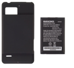 Seidio - Extended Battery and Door for Motorola Droid Bionic XT875 - Black