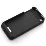 Bluedio Kickstand Backup Battery Pack for iPhone 4/4s 1500mAh - Black