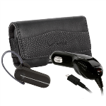 OEM Verizon Bluetooth Plus Pack - LG HBM-260 Bluetooth Headset, Pouch and Vehicle Charger with USB Port (Black)
