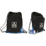M-Edge Tech Sackpack with 4000 mAh Battery in BLK