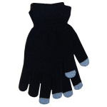Boss Tech Touch Screen Gloves (Black with Gray Tips) - BTP-GLV-BLACK