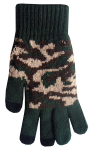 Boss Tech Touchscreen Gloves, Texing Gloves, Tech Gloves (Green Camo)