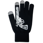 Boss Tech BTP-GLV-GN Knit Touchscreen Gloves, Texting Gloves, Tech Gloves (Black/White)
