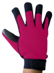 Boss Tech Mechanic''s Style Touch Screen Gloves for All Touch ScreenDevices (Black/Pink)