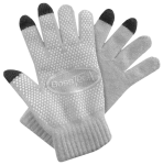 Boss Tech Knit Non-Skid Touchscreen Gloves for Cell Phones, Smart Phones, Tablets (Gray), Women''s
