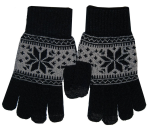 Boss Tech BTP-GLV-PRPBLK Knit Touchscreen Gloves, Texting Gloves, Tech Gloves (Black/Purple)