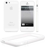 Unlimited Cellular Bumper Case for iPhone 5G - White