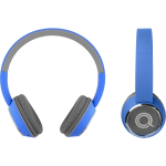 QUIKCELL Color Burst Harmonize BT On-Ear Headphones Blue  for Stereo Bluetooth enabled phones and devices