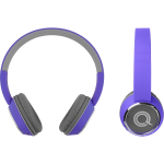 QUIKCELL Color Burst Harmonize BT On-Ear Headphones Purple  for Stereo Bluetooth enabled phones and devices