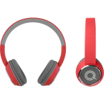 Quikcell Color Burst Harmonize BT On-Ear Headphones RED