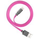 Ventev Flat Tangle-Resistant Lightning Charge/Sync Data Cable for iPhone 8 - Pink