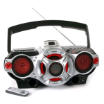 Sony XPLOD Portable AM/FM Radio CD/Cassette Player MP3/USB Boombox