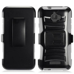 COOLPAD DEFIANT (3632) ARMOR STAND CASE W/ HOLSTER-GRAY/BLACK