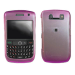 Hard Plastic Snap-on Cover Fits RIM Blackberry 8900 Curve 2Tone Ice Pink AT&T, T-Mobile