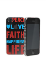 AT&T Cygnett Peace/Love Shell Case for Apple iPhone 4/4S (Clear) CY0613S3