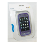 Sprint Protective Gel Flexible Phone Case for Samsung Conquer 4G - Purple