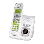 Uniden DECT 6.0 Cordless Phone with Answering System and Caller ID (White)