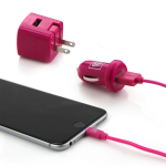 Overtime by Delton 1amp Lightning 3PC Charger Kit - Pink