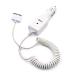 Dexim 30-Pin Car Charger for Apple iPhone 3GS / 3G & iPod (White) - DCA022A-W