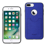 Reiko iPhone 8 Plus/ 7 Plus Anti-Slip Texture Protector Cover With Card Slot In Navy