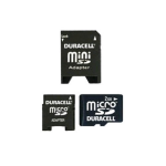 Duracell 2GB MicroSD Card with MiniSD Adapter (Bulk Packaging)