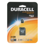 Duracell 2GB MicroSD Card with SD Adapter (Black) (Bulk Packaging)