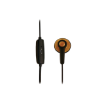 Samsin ECO Disk EarBud Headset for 2.5mm Jack (Black/Wood Finish)