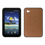 Samsung Galaxy Tab Protective Leather Back Snap On Case - Camel