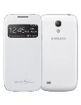 Samsung S-View Flip Cover for Samsung Galaxy S4 Mini (White)