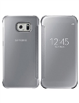 Samsung S-View Flip Cover Clear for Samsung Galaxy S 6 - Clear/Silver