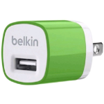 Belkin MIXIT Up 1A Home Charger Head for Android, BlackBerry,Smartphones (Green) - F8J017TTGRN