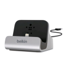 Belkin Charge + Sync Dock for Apple iPhone 5 / 5S / 5C (Silver)