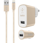 Belkin 2.1 Amps Universal Wall Charger with 6 foot USB C-to-A Cable - Gold