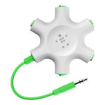Belkin Rockstar Headphone Splitter - White