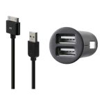 Belkin Dual USB Vehicle Power Charger with 3 ft Sync / Charge Cable for Apple iPod Touch, 30-Pin Cable (F8Z899TT)