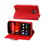 Reiko - Magnetic Closure Flip Case for ZTE Source N9511 - Red