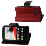 Reiko - 3-in-1 Wallet Case for Alcatel One Touch Evolve 5020T - Red