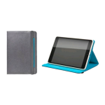 Ventev Folio Cover for Apple iPad Mini Retina (Gray/Aqua)