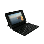 ZAGG Keys Folio Bluetooth Keyboard Case for Verizon Ellipsis 7 - Black