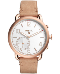 Fossil Q Tailor Gen 2 Women's Light Brown Leather Hybrid Smartwatch FTW1129