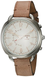 Fossil Women's 'Q Accomplice' Smart Watch - Sand Leather - Color Brown (FTW1200)