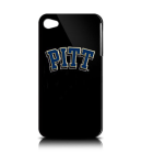 NCAA Pittsburgh Panthers Varsity Jacket Hardshell Case for Apple iPhone 4 (Black)