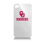 Oklahoma University Varsity Jacket Solo Case for Apple iPhone 4 - White