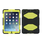 Griffin Survivor Hybrid Case with Stand for Apple iPad Air (Black/Citrus)